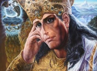 Картина А. Рекуненко 'Царь Мудрости Гаутама Будда, на троне Откровения, исполненном очей'