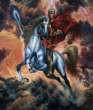 Картина А. Рекуненко 'Второе Пришествие. Имя Ему - Слово Божие'