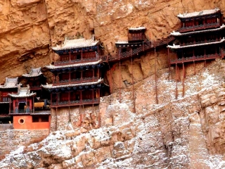 Буддийский монастырь в горном Китае