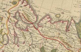 Рипейские горы на карте 1706 года