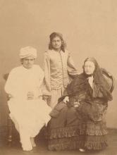 фото Елена Петрова Блаватская, Баваджи и Субба Роу, 1884 год