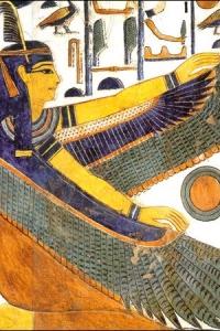 Богиня Маат с крыльями
