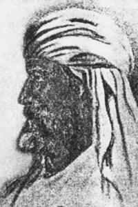 Теософское изображение Махатмы Мориа. Рисунок Блаватской