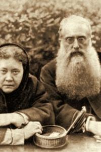Е. П. Блаватская и Г. С. Олкотт. Лондон, октябрь 1888