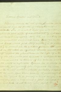 Письмо №1 Махатма Кут Хуми - Синнетту 15 февраля 1881 г. (стр. 1)
