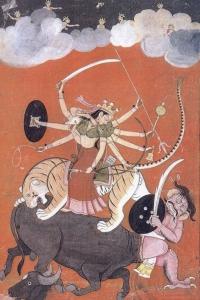 Бой Кали с Махишей