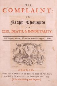 """Обложка книги """"Ночные думы..."""" Эдуарда Юнга"""