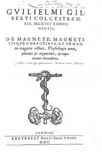 Титульный лист книги «De Magnete..» Уильяма Гильберта