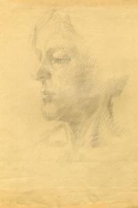 'Любовь Сергеевна Корочкина', 1984 г., портрет создан Матвеевым Игорем Алексеевичем