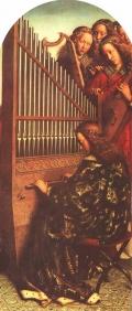 """Гентский алтарь. """"Музицирующие ангелы"""".Фрагмент. Хуберт и Ян ван Эйк"""