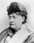 Helena Petrovna Blavatsky, photo 1878, New York.