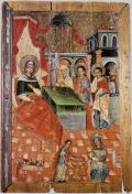 Рождество Богородицы. Белорусская Икона VII век.