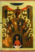 Сошествие Святого Духа на Апостолов. Икона XV века.