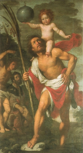 Бернардо Строцци 'Святой Христофор, святой Себастьян, святой Рох'