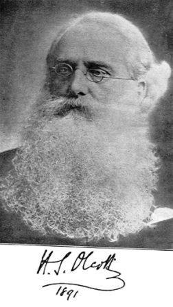 фото Генри Стил Олькотт, 1891 г.