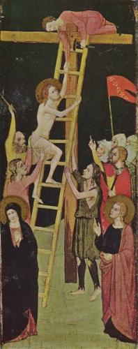 «Христос поднимается по лестнице на крест». Джованни ди Бартоломео Кристиани. 1366 -1394 г.г.