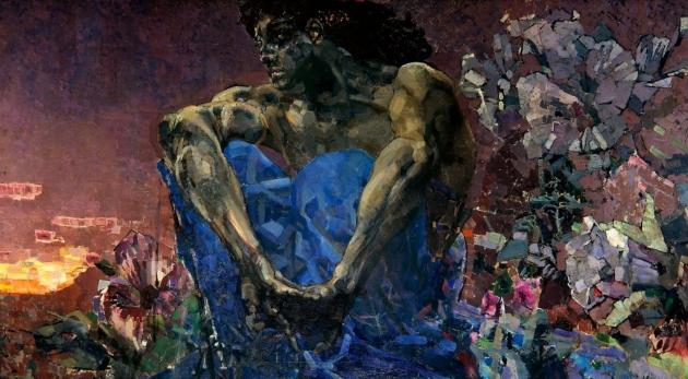 Михаил Врубель. 'Демон сидящий'