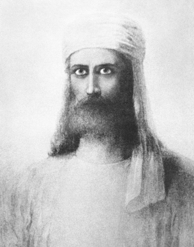 Портрет Махатмы Мории,  худ. Герман Шмихен,  1884, усечённый вариант