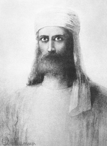 Портрет Махатмы Мории,  худ. Герман Шмихен,  1884 год.