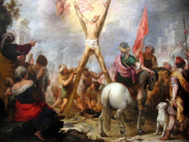 """""""The Martyrdom of St Andrew"""". Bartolome Murillo."""