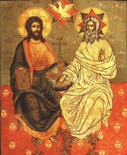 New Testament Trinity. Icon.