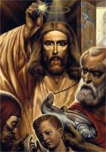 Картина А. Рекуненко 'Чудо Христа с золотым статиром, извлеченным из рыбы'