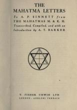 Письма Махатм (первое издание)