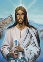 'Христос Воин', картина А. Рекуненко