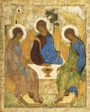 Икона 'Троица', А. Рублев