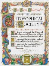The three objects of the Theosophic Society. Picture.