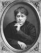Елена Петровна Блаватская, фото 1876 или 1877 года