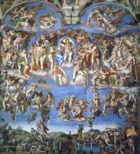 Фреска 'Страшный Суд'. Микеланджело Буонарроти