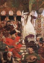 painting The Unsmiling Tsarevna (Victor Vasnetsov)