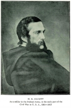 Henry Steel Olcott as a participant in the American Civil war, photo taken between 1861 and 1865.