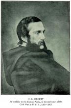 Генри Стил Олькотт (фото сделано между 1851-1865 гг.)