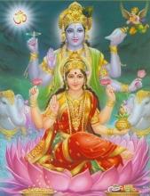 Goddes Lakshmi and Vishnu