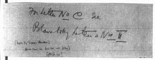 Letter №56 Cover sheet