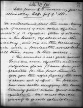 Letter №66 p. 1